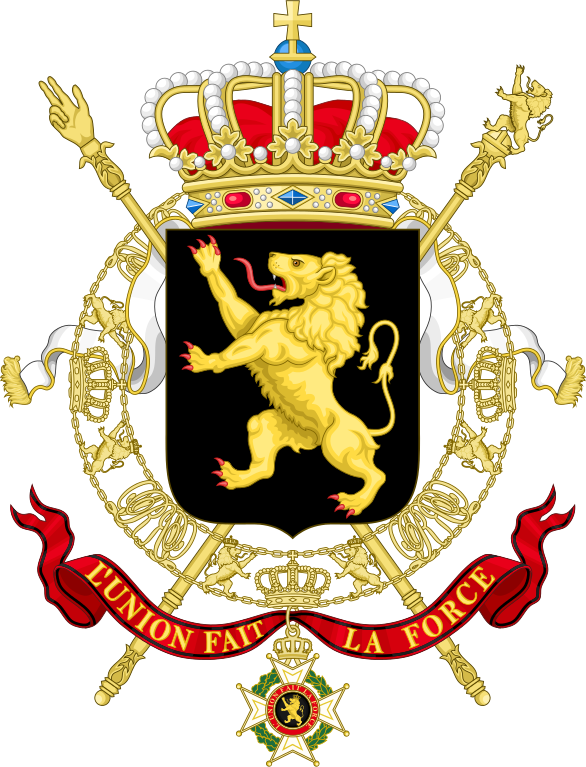 Lion & bat shield kingdom baseball clipart jpg royalty free stock File:State Coat of Arms of Belgium.svg - Wikipedia jpg royalty free stock