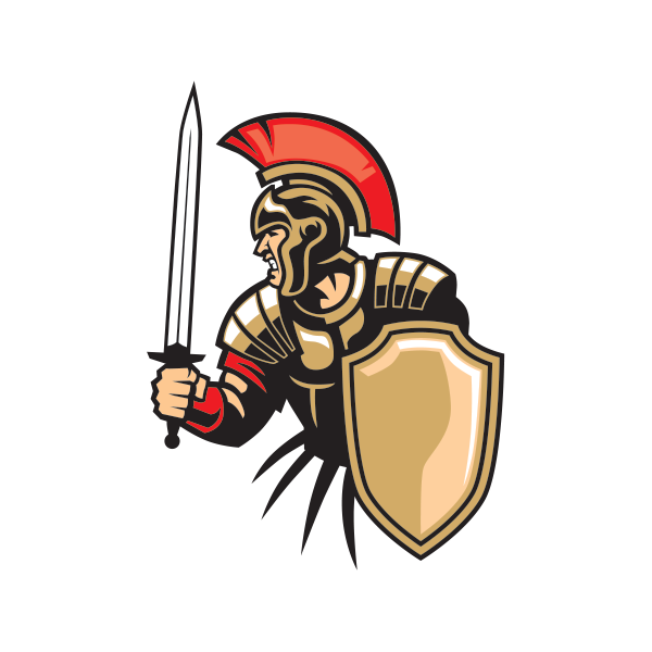 Lion & bat shield kingdom baseball clipart jpg freeuse download Printed vinyl Roman Soldier Warrior With Sword And Shield   Stickers ... jpg freeuse download