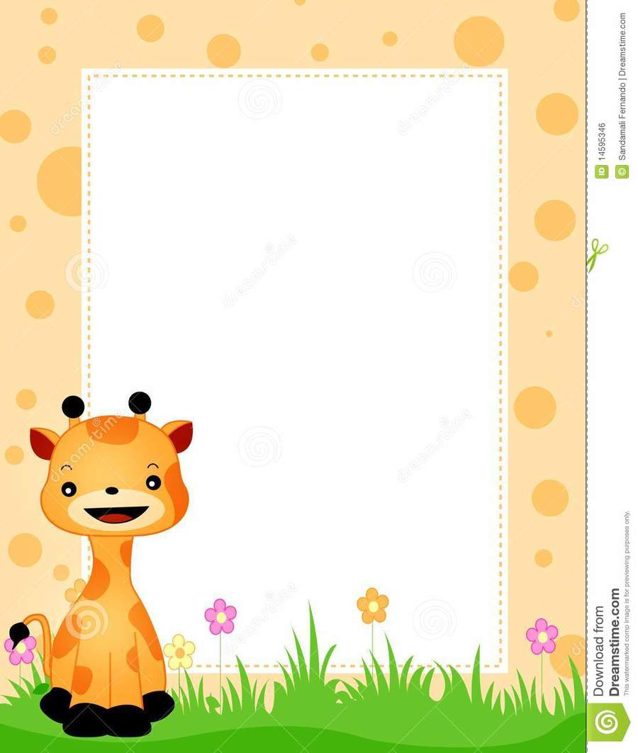 Lion border clipart clip art free stock Lion, Giraffe, Illustration, Flower, Yellow, Cartoon, Text ... clip art free stock