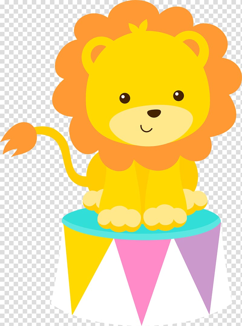 Lion circus clipart banner black and white stock Lion on stool , Circus Clown , carnival theme transparent ... banner black and white stock