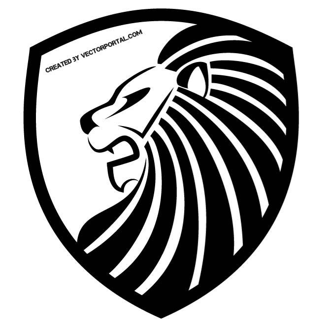 Lion crest clipart svg free LION CREST - Free vector image in AI and EPS format. svg free