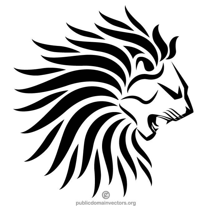 Lion crest clipart royalty free LION CREST SYMBOL - Free vector image in AI and EPS format. royalty free