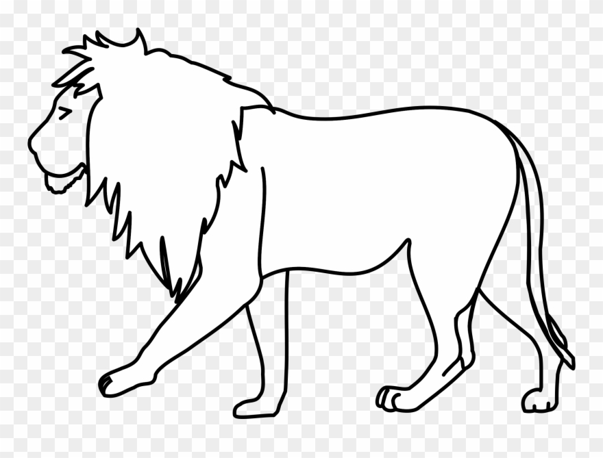 Lion drawing clipart clip free download Lion Drawing Line Art Pencil - Lion Line Drawing Clipart ... clip free download