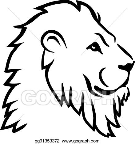 Lion drawing clipart banner transparent Vector Art - Lion head side. Clipart Drawing gg91353372 ... banner transparent