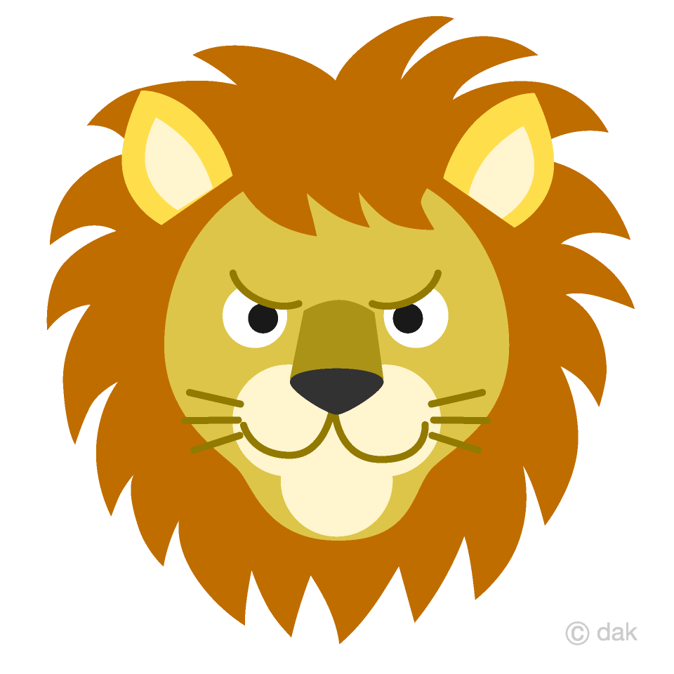Lion face images clipart graphic black and white Lion Face Clipart Free Picture|Illustoon graphic black and white