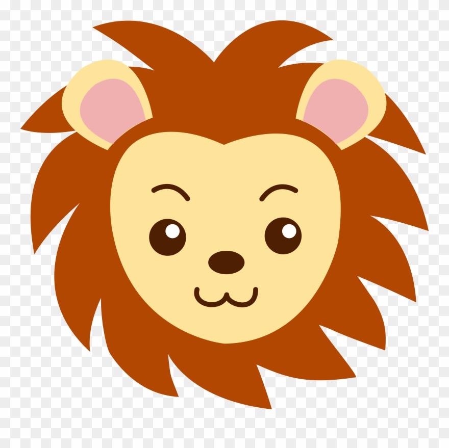 Lion face images clipart clipart black and white library Face Of A Cute Lion - Clip Art Lion Face - Png Download ... clipart black and white library
