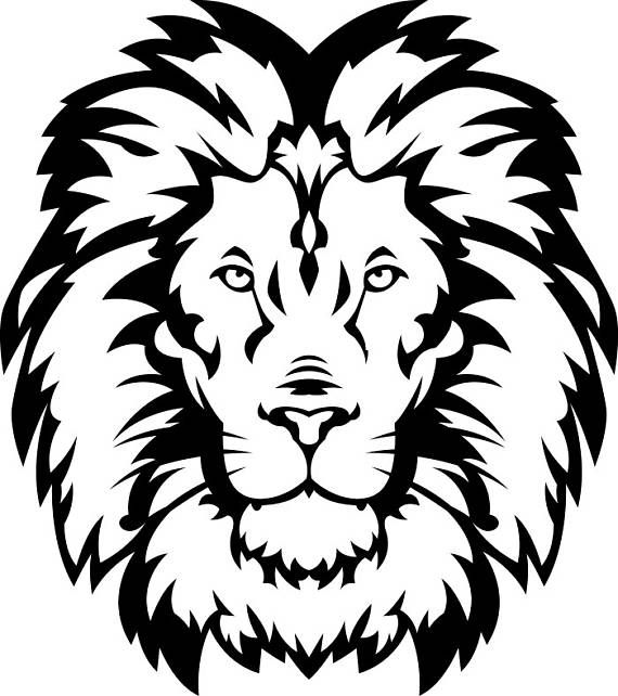 Lion head mascot clipart black and white png royalty free stock Lion #15 Head Wild Cat School Mascot Company Logo .SVG .EPS ... png royalty free stock