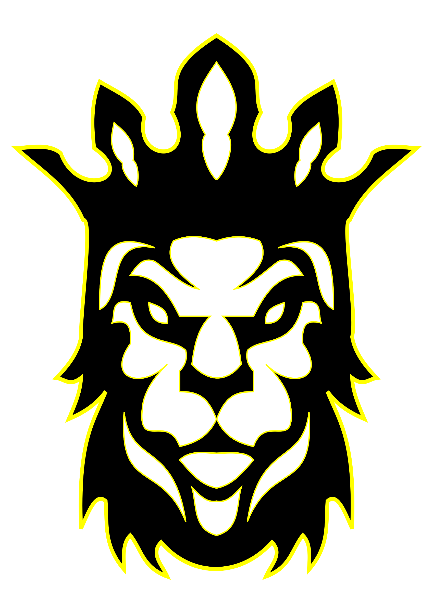 Lion with a king crown clipart clipart black and white stock Clipart - The Lion as a King clipart black and white stock