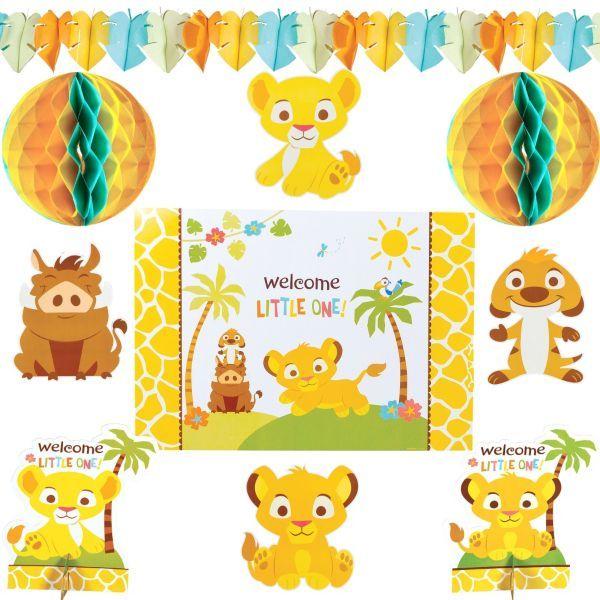 Lion king baby shower clipart png transparent download Lion King Baby Shower Room Decorating Kit 10pc Party City ... png transparent download