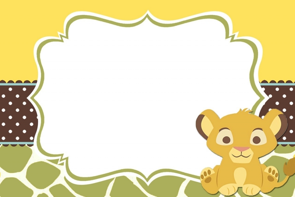 Lion king baby shower clipart jpg black and white 9 Free Lion King Baby Shower Invitations   KittyBabyLove.com jpg black and white