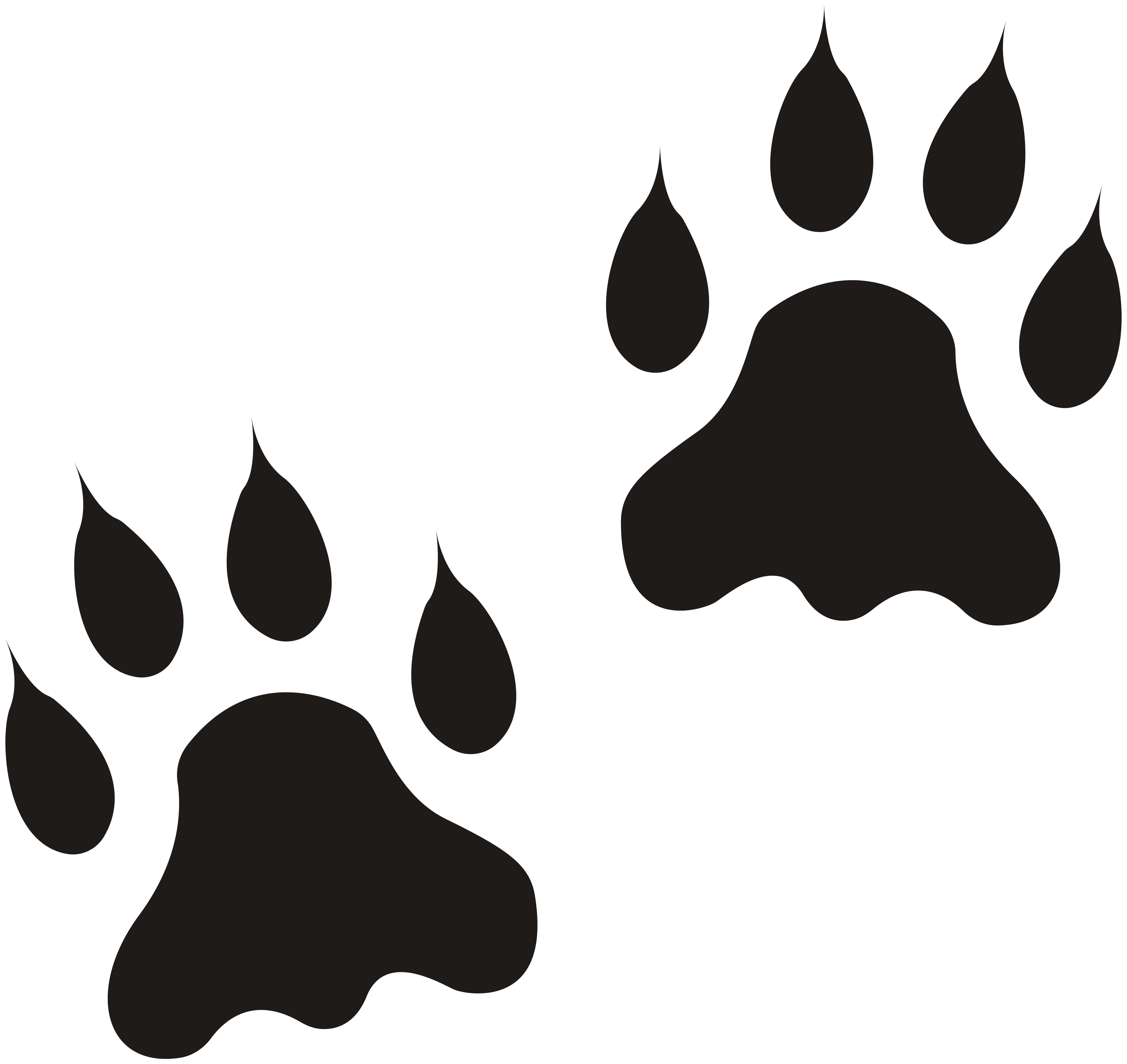 Lion paw clipart jpg black and white download Lion Paws Clip Art Image   Gallery Yopriceville - High ... jpg black and white download
