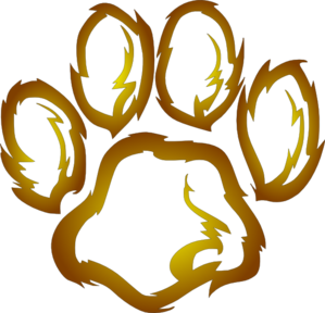 Lion paw clipart vector black and white download Lions Paw Print Clip Art   Ghent Elem   Paw print clip art ... vector black and white download