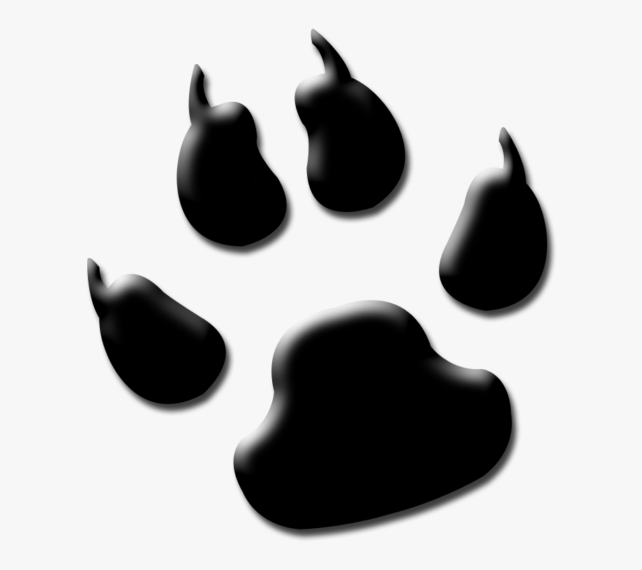 Lion paw clipart black and white library Dog Paw Clipart Black And White - Lion Paw Print Black And ... black and white library