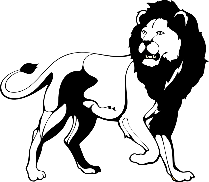Lion roar clipart black and white png png royalty free download Lion Black and white Roar Clip art - Black Lion Cliparts png ... png royalty free download