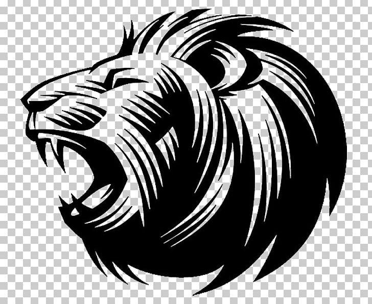 Lion roar clipart black and white png clip art library library Lion\'s Roar Silhouette PNG, Clipart, Abstract Lines, Animals ... clip art library library