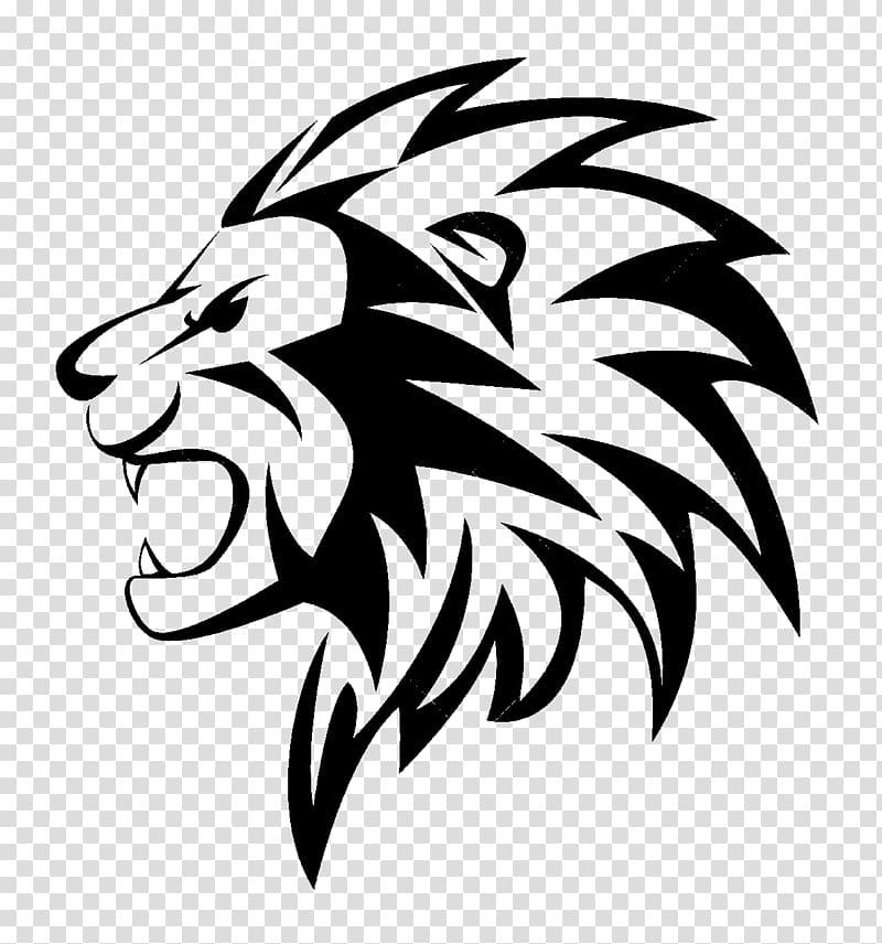 Lion roar clipart black and white png jpg library Black and white graphic, Lion Roar , Lioness Roar File ... jpg library
