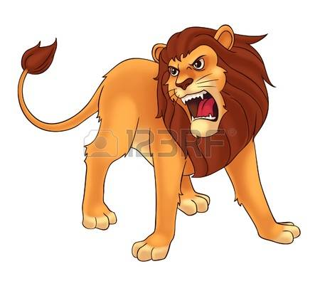Lion roaring front view clipart clip freeuse stock 33+ Roaring Lion Clipart | ClipartLook clip freeuse stock