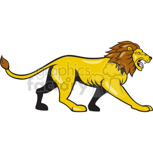 Lion walking clipart svg royalty free library lion walking side ISOLATED clipart. Royalty-free clipart # 394476 svg royalty free library