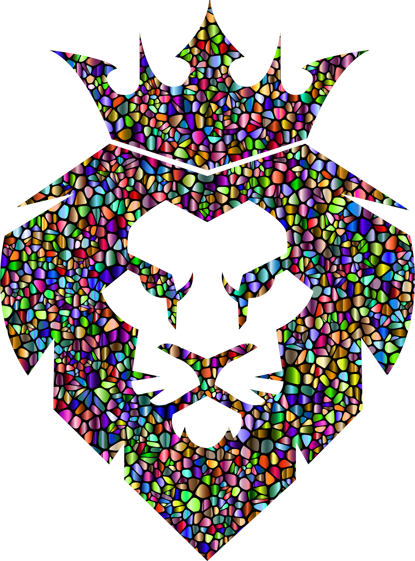 Lion with a king crown clipart royalty free download Clipart - Chromatic Tiles Lion King royalty free download