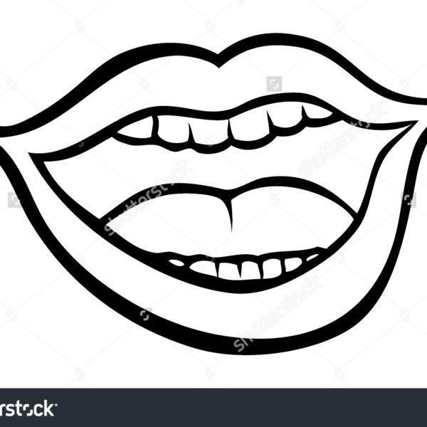 28 Collection Of Open Mouth Clipart Black And White High ... clipart free stock