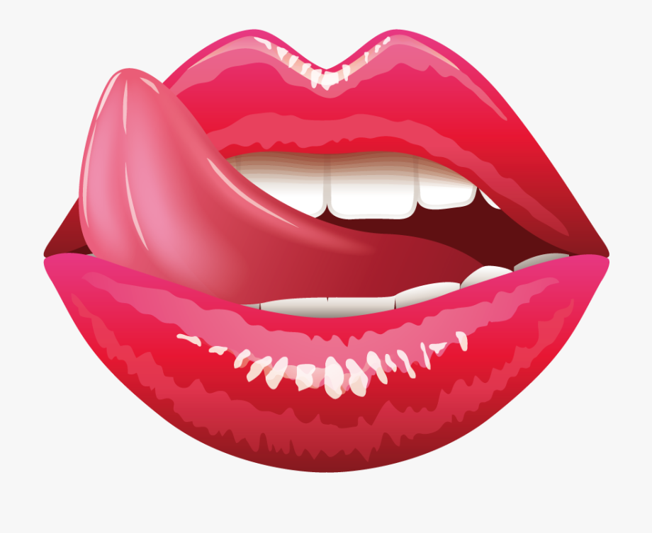 Mouth and tongue clipart svg free library Lip Tongue Mouth Clip Art - Lips With Tongue Vector #103120 ... svg free library