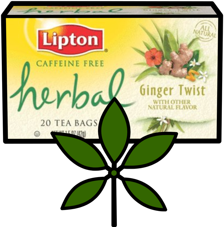 Lipton tea clipart vector freeuse stock Herbal Tea - Lipton Herbal Tea Bags, Ginger Twist - 20 Tea ... vector freeuse stock