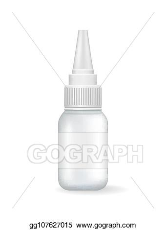 Liquid medicine infant dropper clipart black and white graphic download Vector Clipart - Empty small container with dispenser for ... graphic download