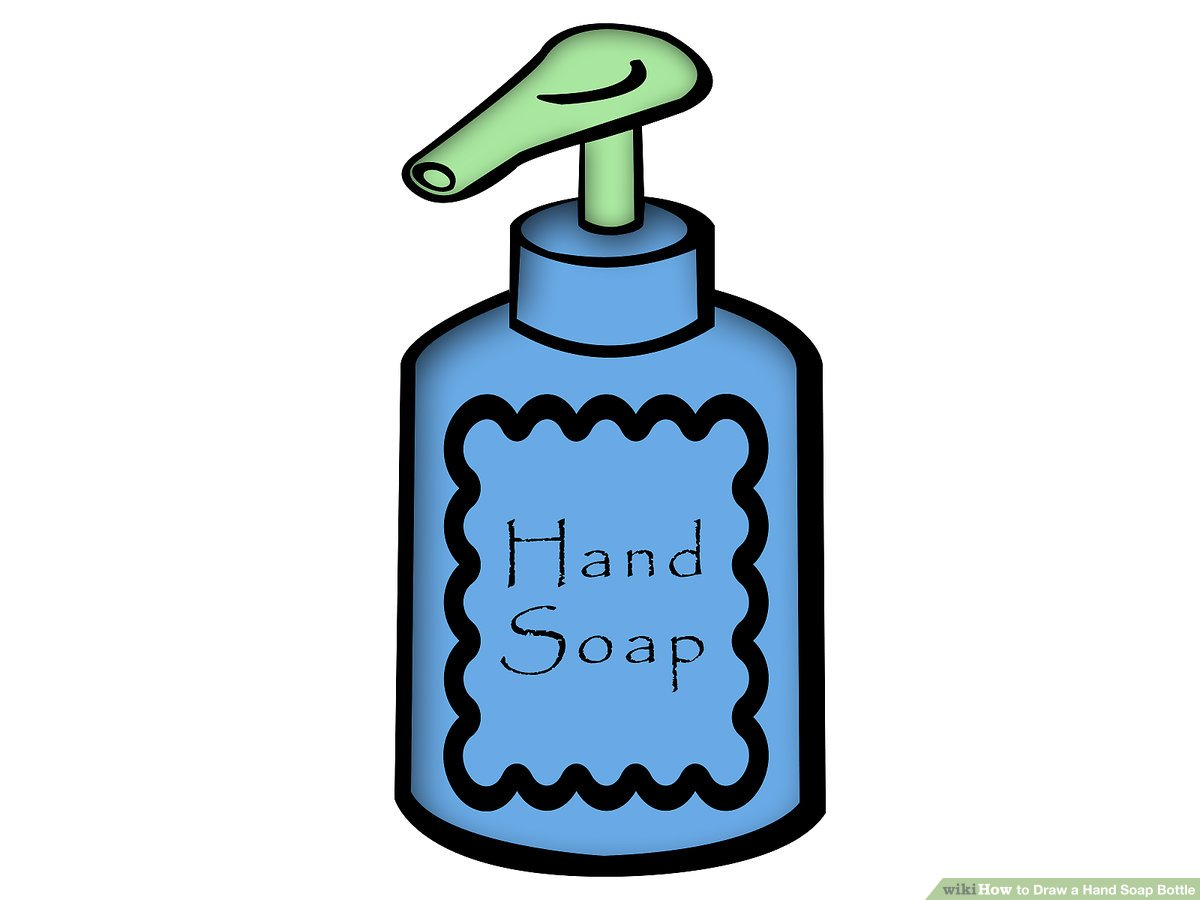 Liquid soap clipart jpg How to Draw a Hand Soap Bottle: 4 Steps (with Pictures ... jpg