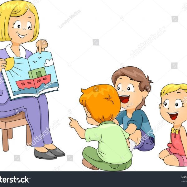 Listen to the teacher clipart clip transparent library Illustration Kids Listening Story Stock Vector (Royalty Free ... clip transparent library