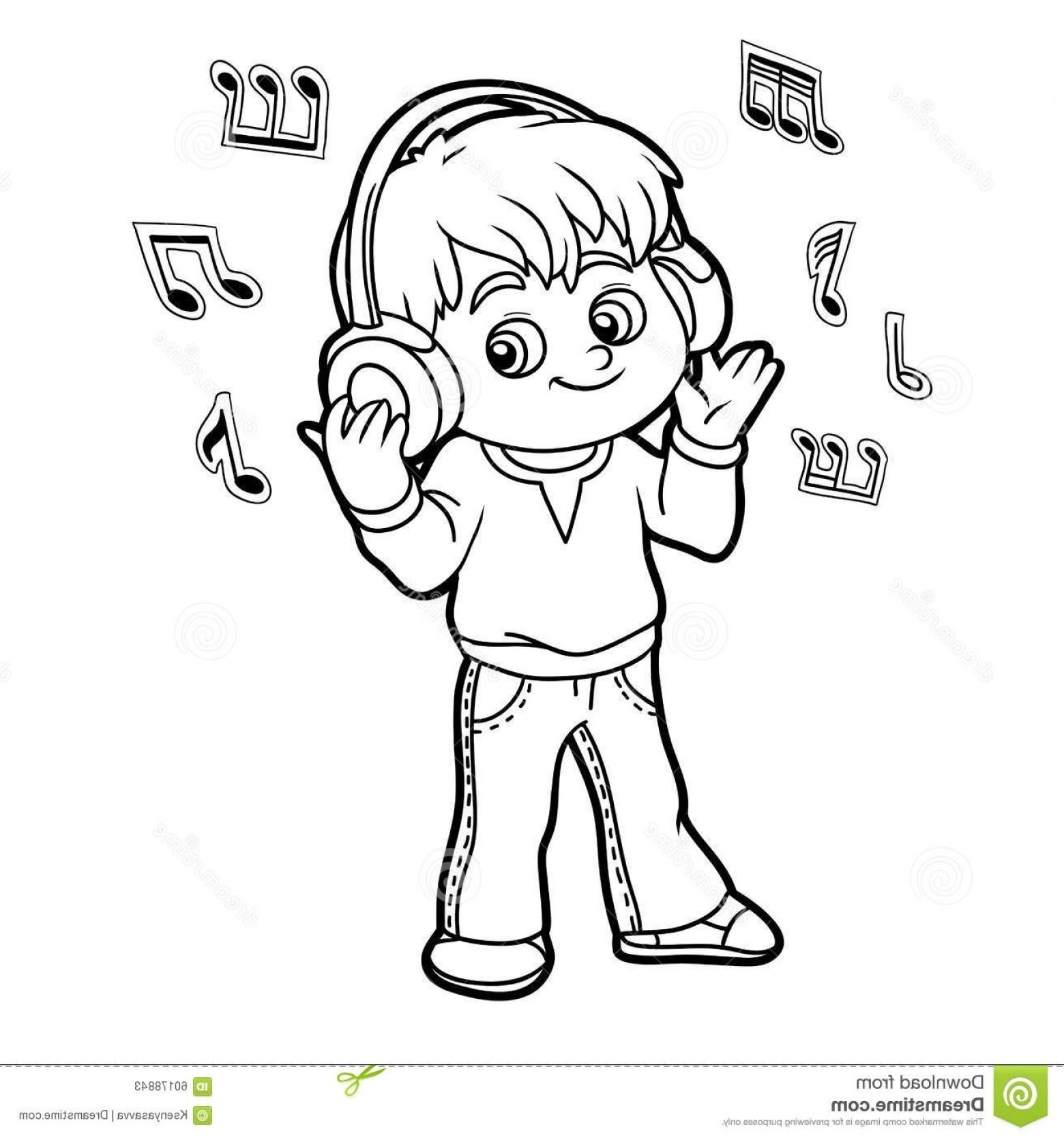 Listening clipart black and white picture royalty free stock Listening To Music Clipart Black And White – Clipartxtras ... picture royalty free stock