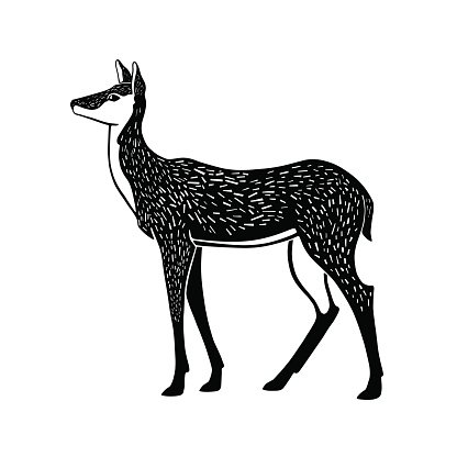 Lithography clipart png library download One Color Illustration of A Doe IN Lithography premium ... png library download