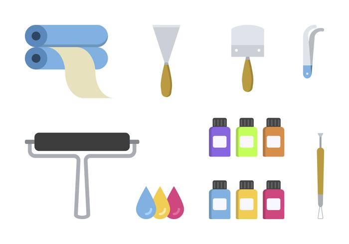 Lithography clipart png free stock Flat Lithography Tool Vectors - Download Free Vectors ... png free stock