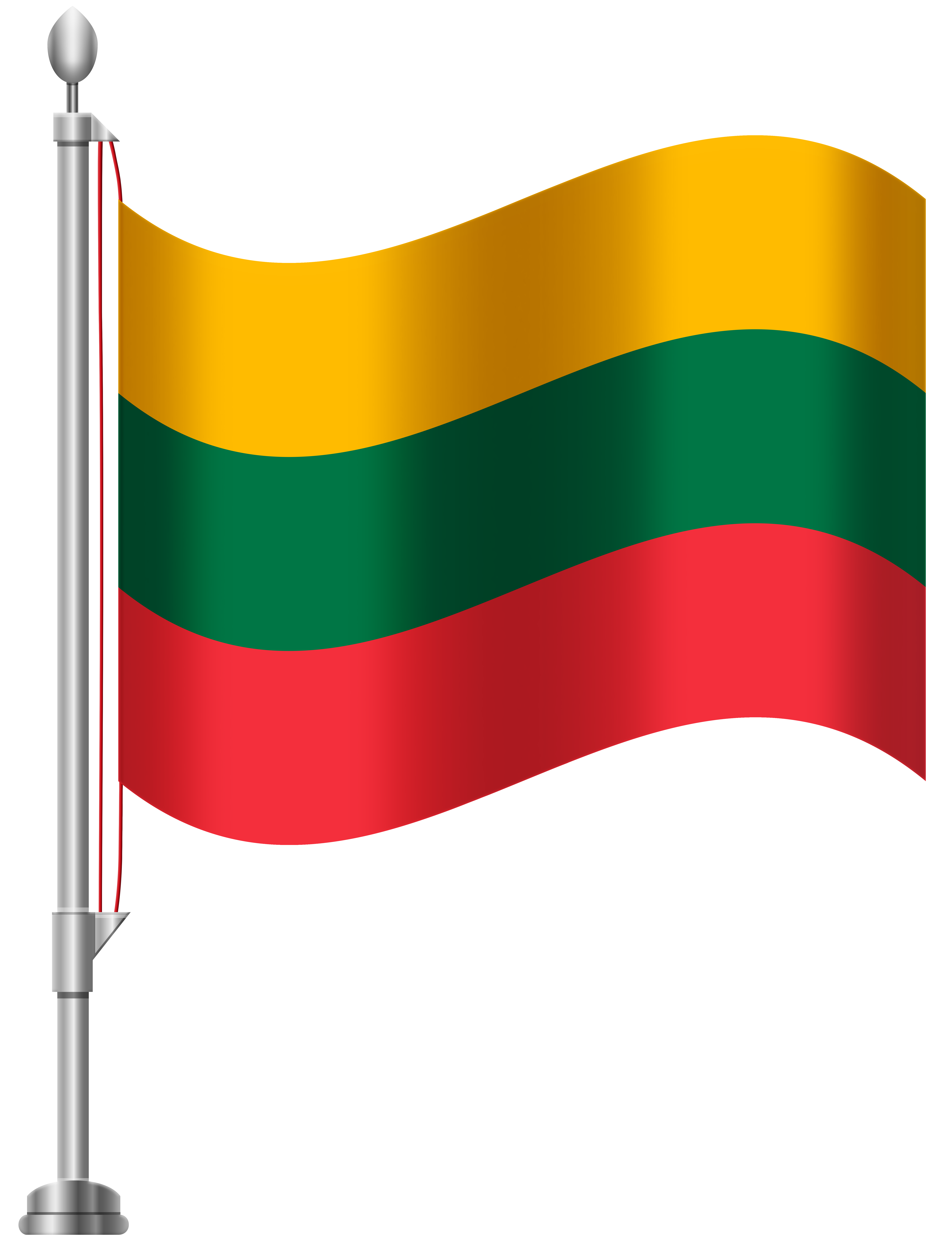 Lithuanian flag clipart clip royalty free Lithuania Flag PNG Clip Art - Best WEB Clipart clip royalty free