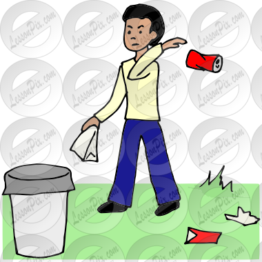Littering clipart png library Littering Picture for Classroom / Therapy Use - Great ... png library