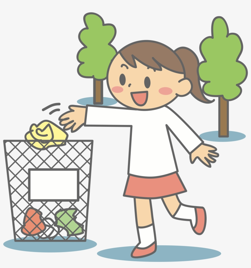 Littering clipart clipart royalty free Litter Into Bin - Litter Clipart - Free Transparent PNG ... clipart royalty free