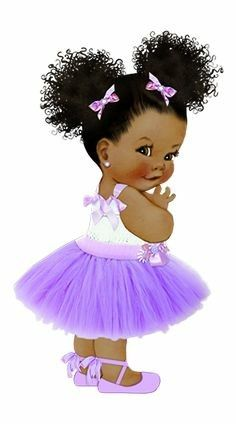 Little black baby in a tutu clipart image stock Pin by Esque Walker on Children | Baby art, Baby clip art ... image stock