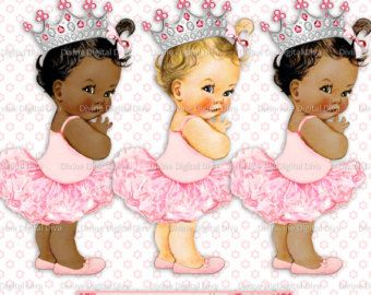 Little black baby in a tutu clipart png black and white library Island Girl Watermelon Tropical Luau Gold Accents | Hibiscus ... png black and white library
