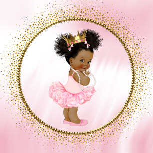 Little black baby in a tutu clipart jpg transparent stock African American Princess Baby Shower Gifts on Zazzle jpg transparent stock