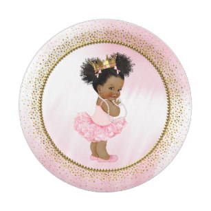 Little black baby in a tutu clipart picture royalty free download African American Princess Baby Shower Paper Plates picture royalty free download