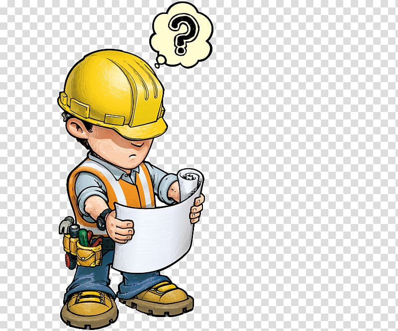 Little boy construction worker clipart jpg download Construction worker holding paper illustration, Construction worker ... jpg download