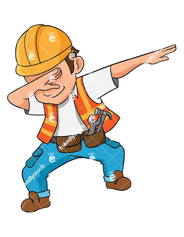 Little boy construction worker clipart clip free stock Dabbing Construction Worker | EPIC in 2019 | Engineer cartoon ... clip free stock