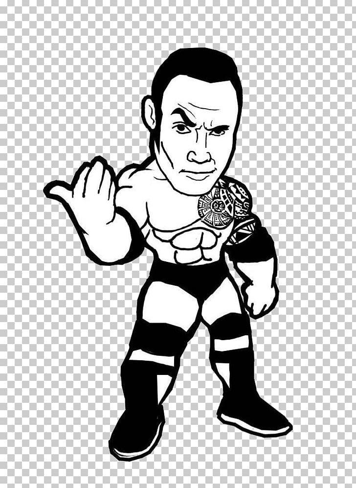 Little boy dressed as professional wrestler cartoon clipart