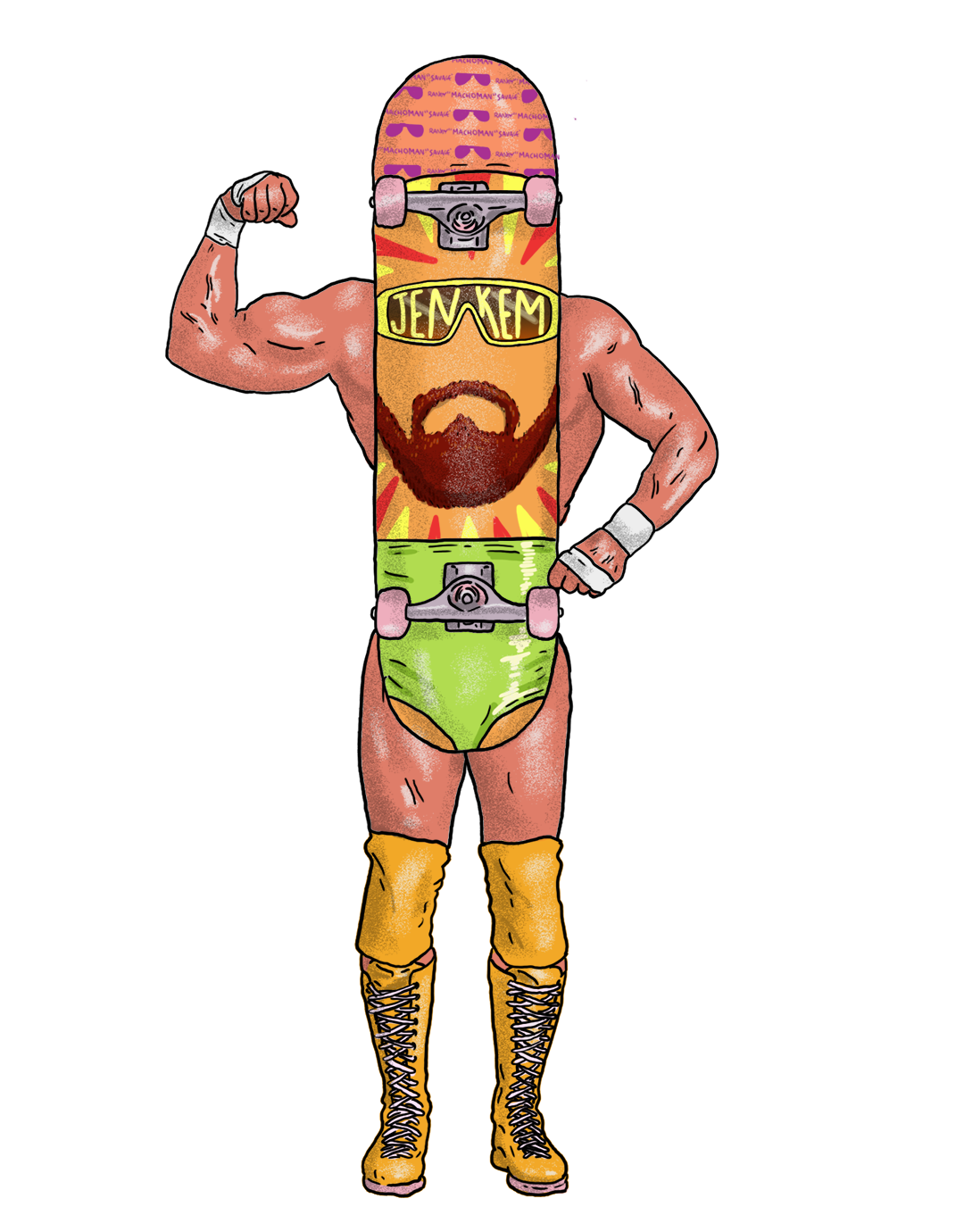 Little boy dressed as professional wrestler cartoon clipart image royalty free library CREATING REALITIES: COMPARING PRO SKATEBOARDING TO PRO WRESTLING ... image royalty free library