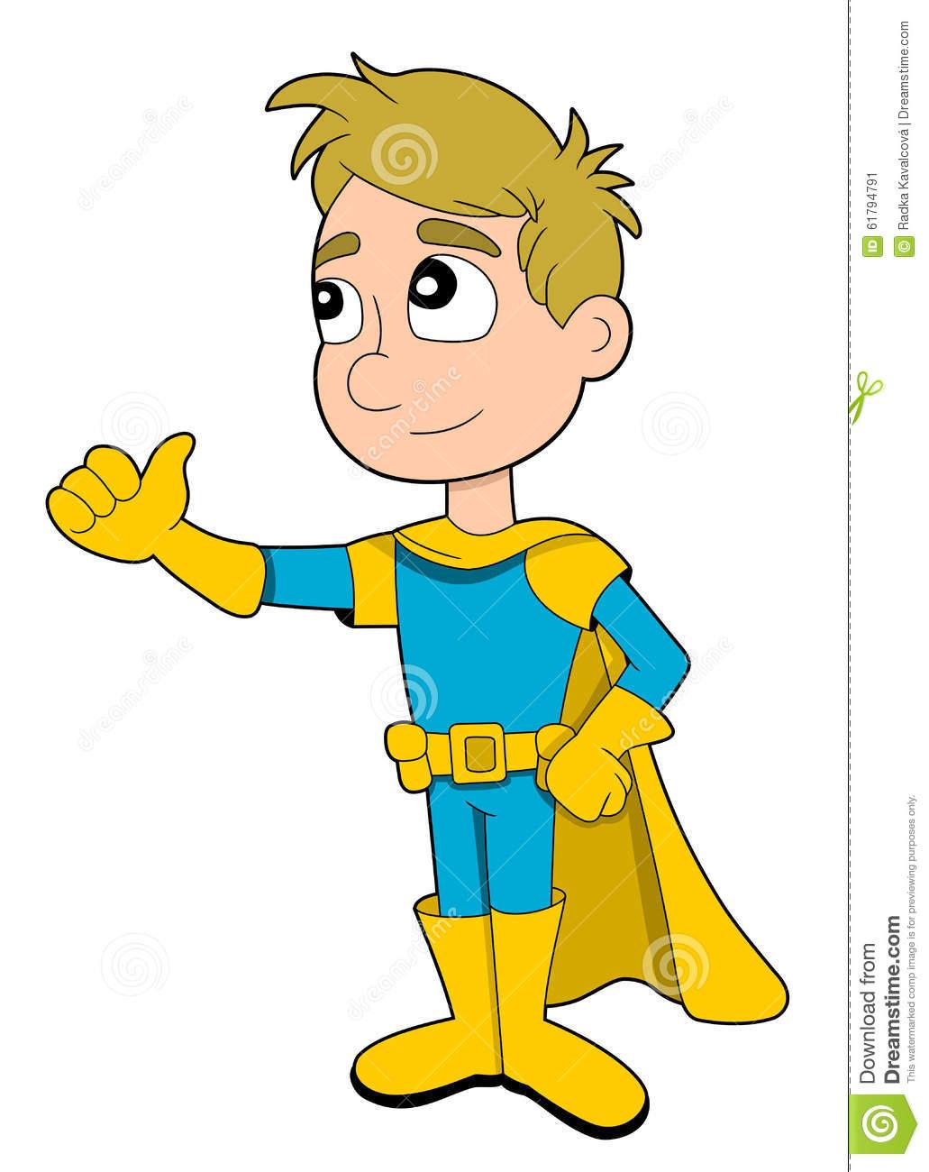 Little boy giving thumbs up clipart clipart stock Superhero Boy Cartoon Stock Vector - Image: 61794791 clipart stock