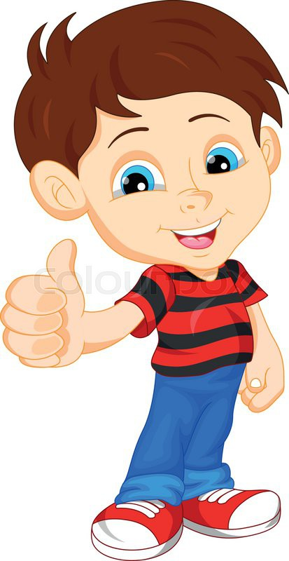Little boy giving thumbs up clipart vector library Little boy cartoon giving you thumbs up | Stock Vector | Colourbox vector library