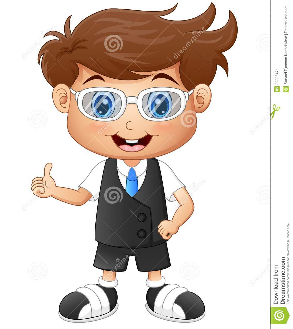 Little boy giving thumbs up clipart clipart free library Little Boy Wearing Glasses Giving Thumbs Up Stock Vector - Image ... clipart free library