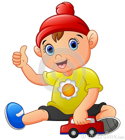 Little boy giving thumbs up clipart png library download Cartoon Boy Giving Thumbs Up Gesture Stock Photos, Images ... png library download