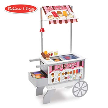 Little boy pulling wagon full of food clipart jpg library stock Melissa & Doug Wooden Snacks & Sweets Food Cart (Play Sets & Kitchens,  Reversible Awning, 40+ Play Food Pieces, 49\
