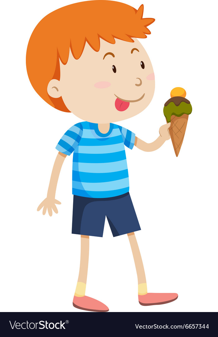 Little boy pulling wagon full of food clipart svg royalty free library Little boy eating ice cream svg royalty free library