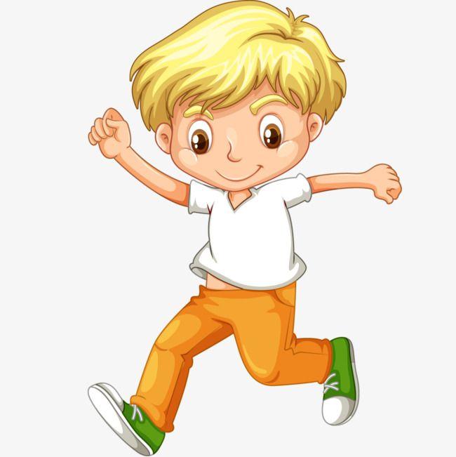 Little boy running clipart image library Little Boy Running In Vector Cartoon | horse in 2019 | Boy, girl ... image library